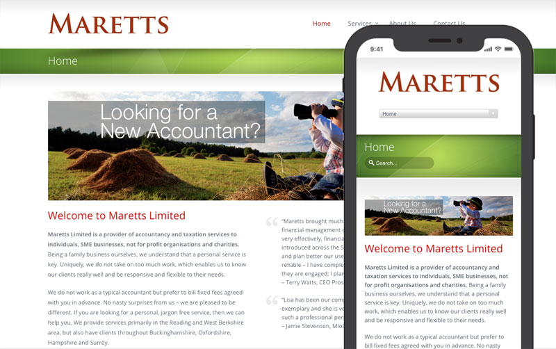 Maretts website